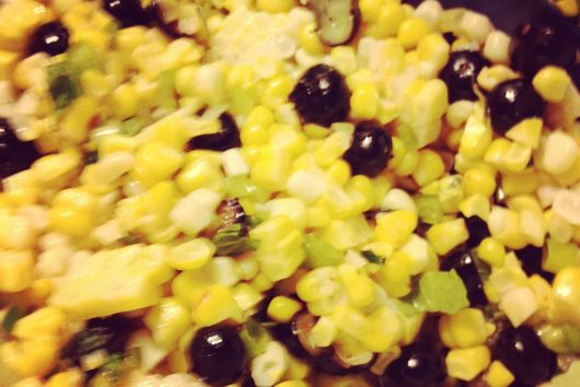 Corn and Blueberry Salad with Mint