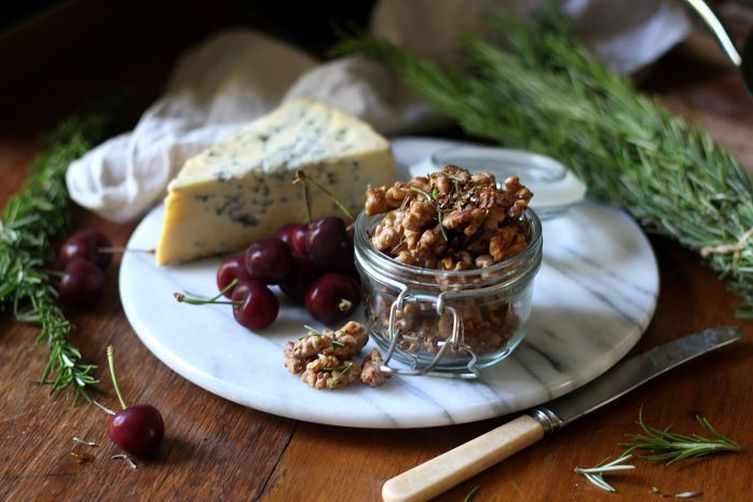 Salted honey and rosemary roasted walnuts
