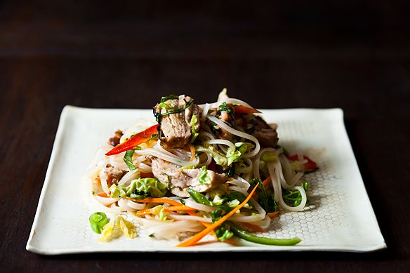 Spicy Grilled Chicken Salad with Noodles