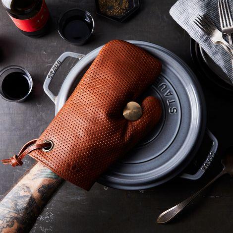 Dutch Leather Oven Mitt