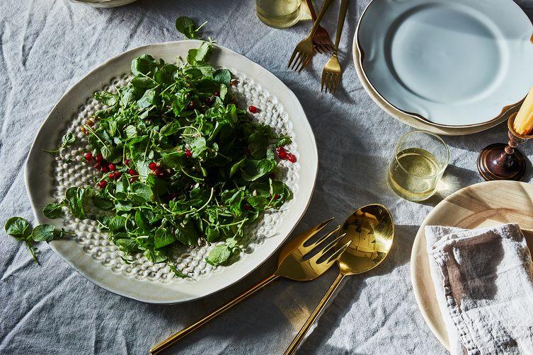 Watercress Salad with Shallot-Pomegranate Vinaigrette