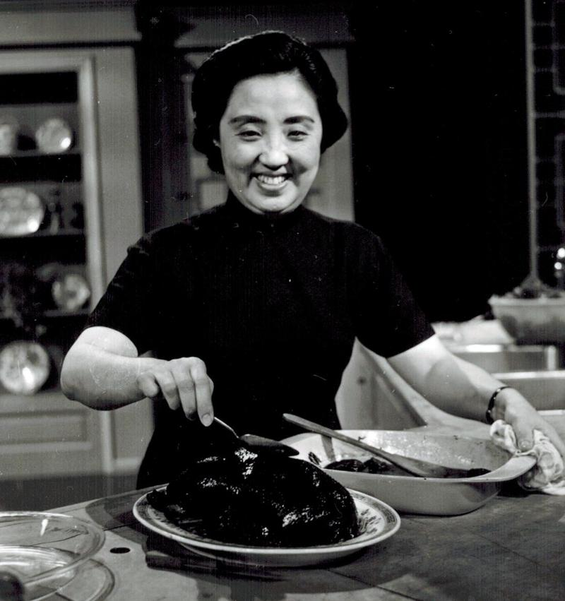 Joyce Chen on her show in 1967. Courtesy Stephen Chen.