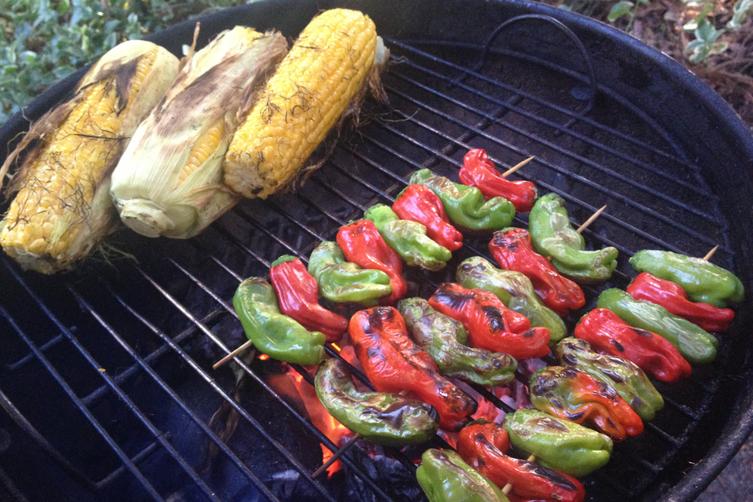 Shishi-tō yaki - grilled peppers