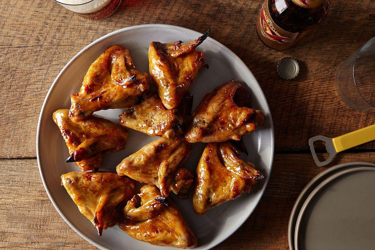 Quick Honey Mustard Chicken Wing Recipe