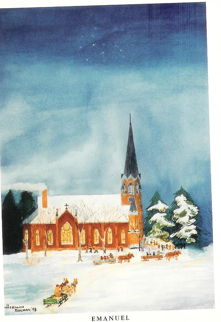 The depiction of Emmanuel Lutheran Church, by the reverend's son.