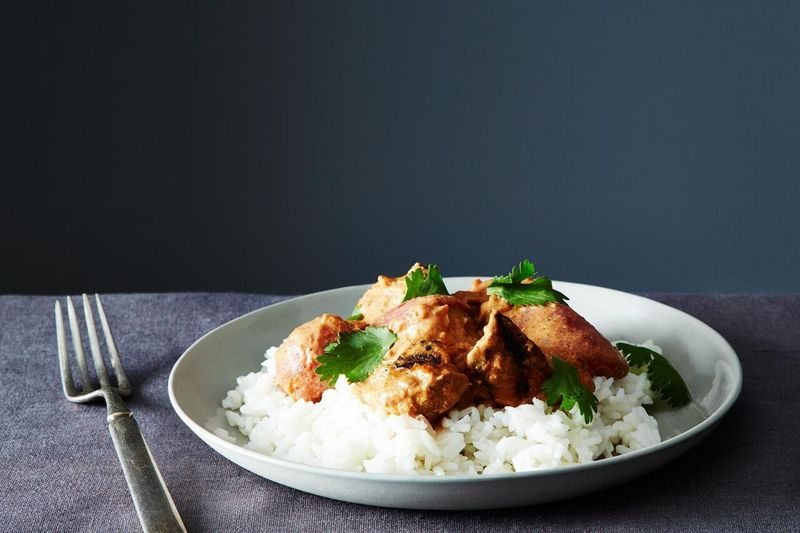 Chicken tikka masala, which is sort-of Indian