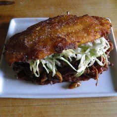 Pabellon Criollo on Crispy Fried Plantains