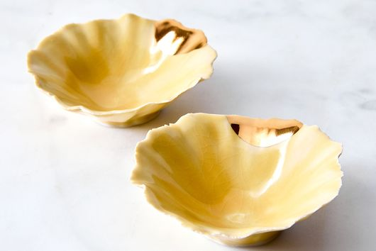 Gold-Dipped Pinch Bowls (Set of 2)
