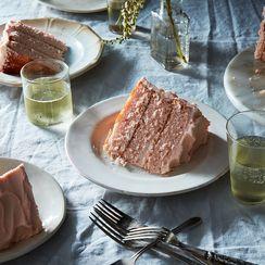 A Blushing, Slightly Tipsy Cake Kicks Off The Fall Cookbook Cake Parade!