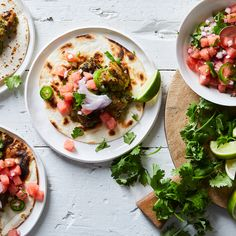 Jalapeño-Marinated Chicken Tacos With Watermelon Salsa
