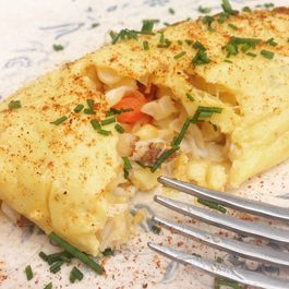 Chesapeake Crab and Corn Omlette