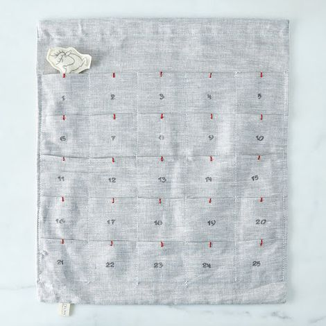 Grey Linen Advent Calendar