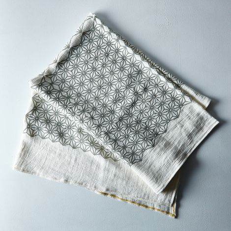 Geometric Heavy Woven Linen Throw