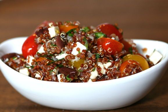 Warm Red Quinoa Salad