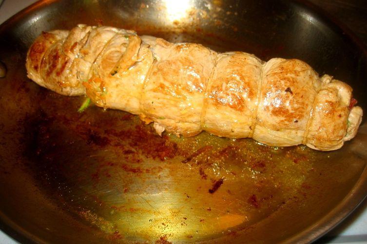 Spicy-Sweet Roasted Pepper Sauce & Stuffed Pork Tenderloin