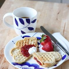 Vafler - Norwegian heart waffles
