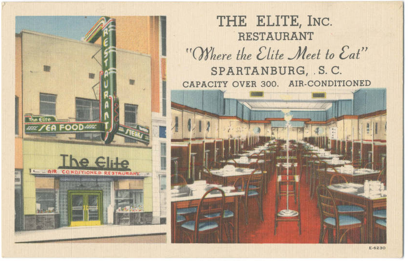 An ad for Spartanburg's Elite Restaurant, where Pamela's mother cooked.