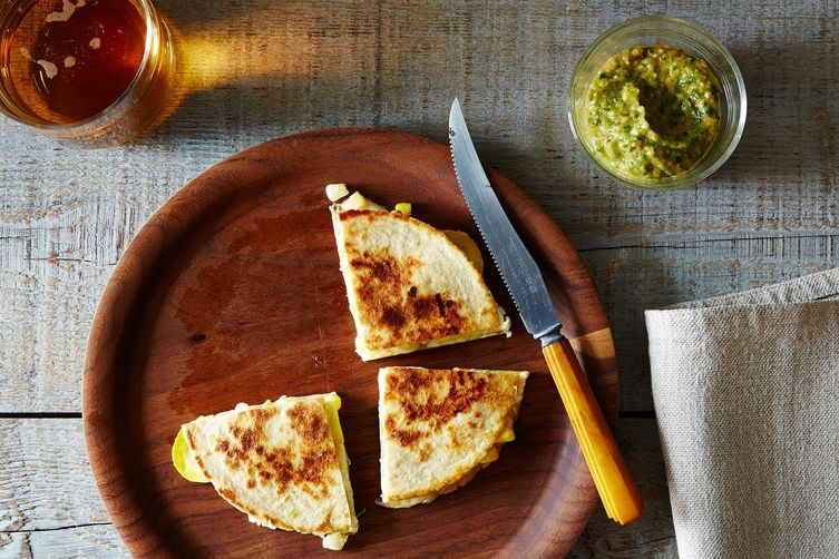 Grilled Zucchini and Corn Quesadillas