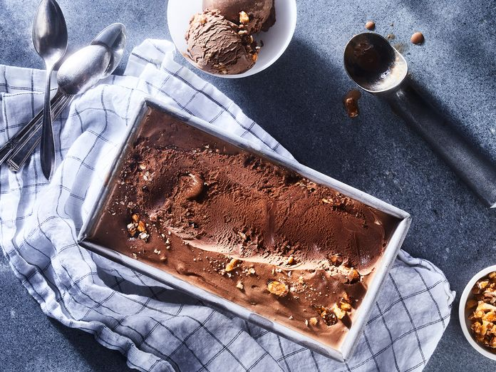 Milk Chocolate Ice Cream + Salted Cashew Brittle = Paradise, Literally