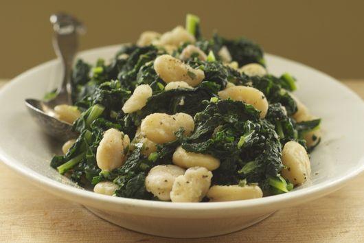 Lacinato Kale and Fava Beans