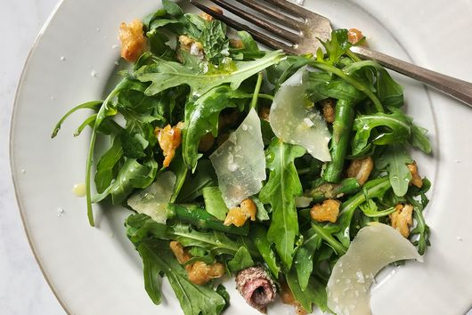 Asparagus & Crispy Beans With Mint & Grana Padano From Allison Arevalo