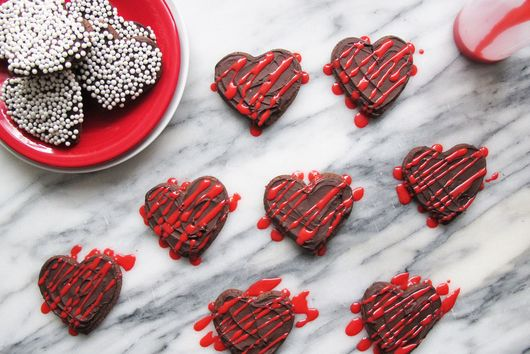 Chocolate Heart Cut Out Cookies
