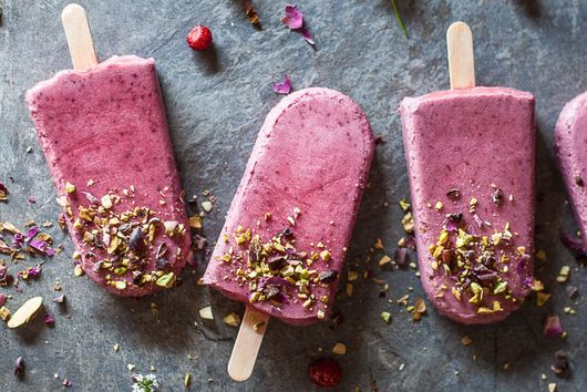 Wild Strawberries Coconut Popsicles