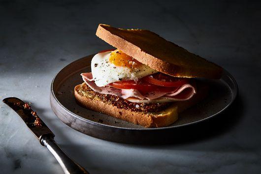 Dutch Ham, Gouda, and Egg Sandwich (Uitsmijter)