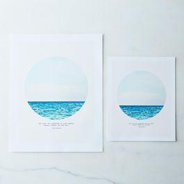 Salt Water Cure Print