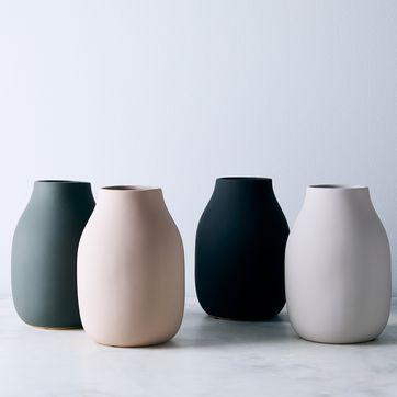 Boho Aesthetic Boho decor Minimalist Faux Terracotta Modern Decor Matte Vase Textured Vase Grey Stone Textured Vase
