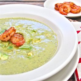 Avocado and Roasted Tomatillo Soup