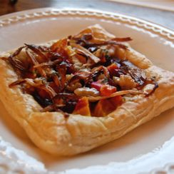 Savory Roasted Beet Root and Blue Cheese Tartelettes