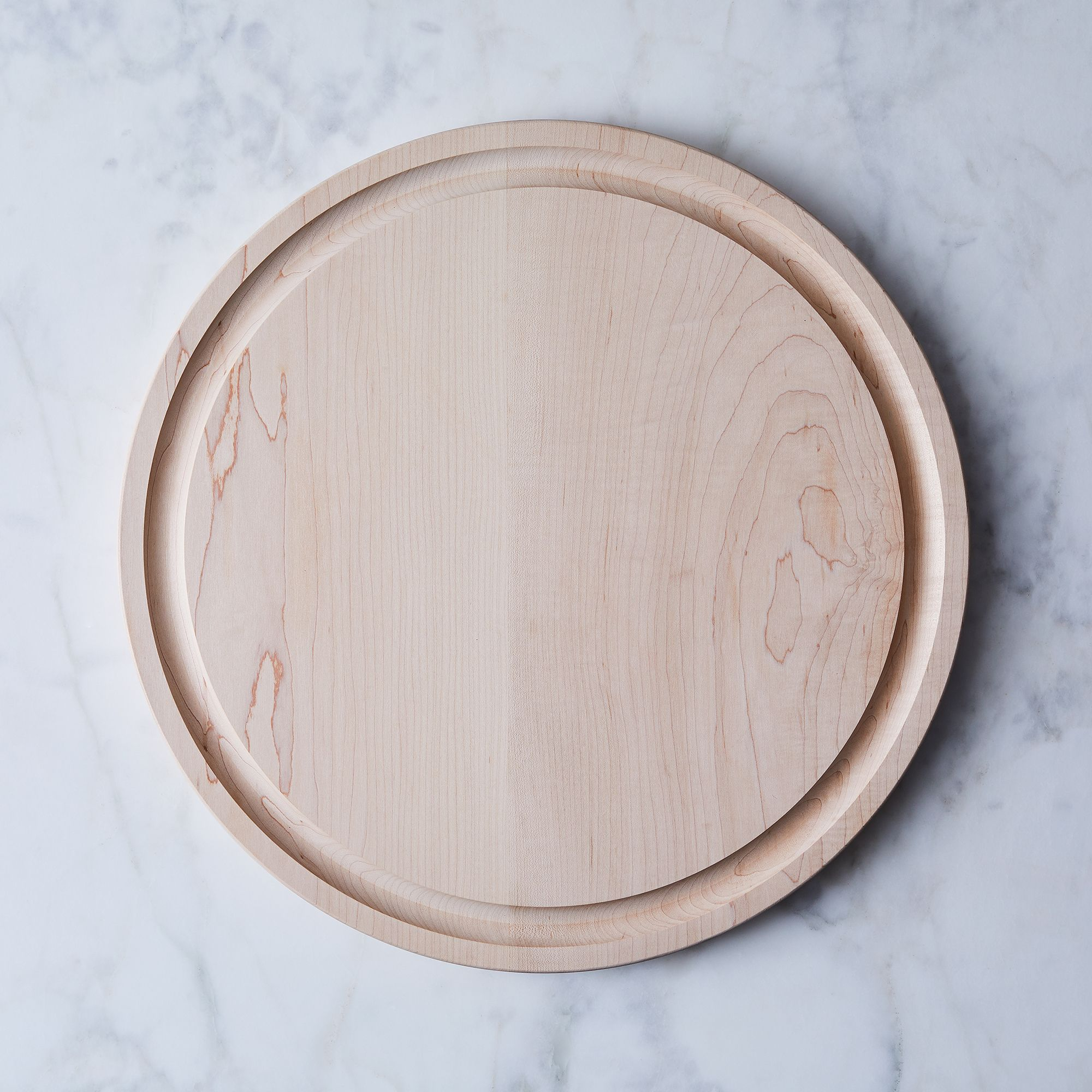 Round Maple Cutting Boards Large With Moat