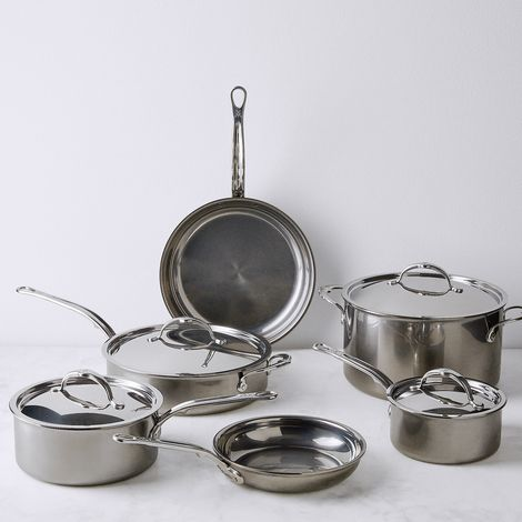 Hestan Nanobond Stainless Steel Cookware, 10 Piece Set