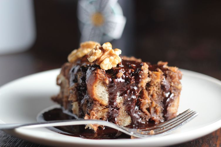 Dark Chocolate & Stout Bread Pudding