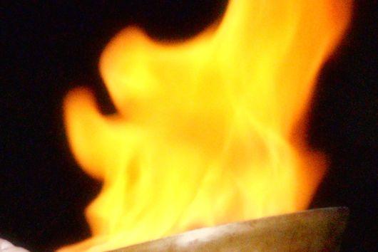 Flaming Cheese - Saganaki!