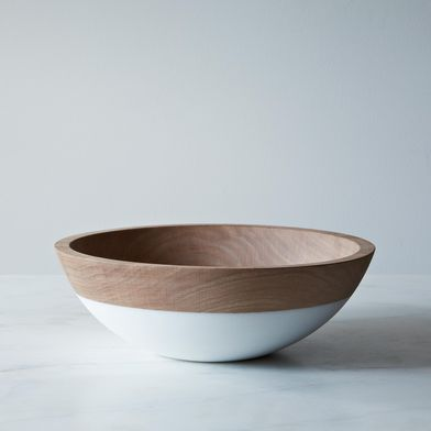 Hand-Dipped Walnut Wood Bowl (12 Inch)