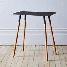 Steel & Wood Rectangular Side Table