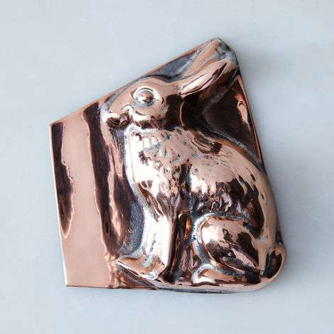 Vintage Copper Rabbit Mold, Late 19th Century