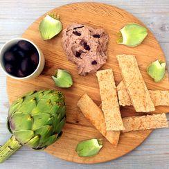 Chargrilled Artichokes Hummus [vegan]