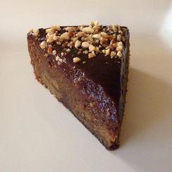 Chocolate Cake with Cream Cheese/Peanut Butter Swirls