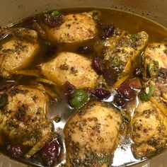 Melly's Braised Holiday Chicken with Olives, Lemon and Apricots