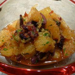 Salad of Oranges and Black Olive