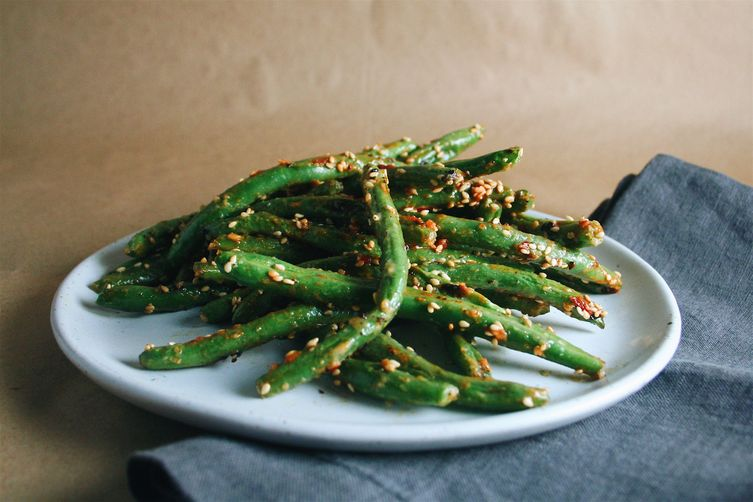 Miso Mayo Blistered Green Beans