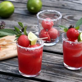 Thai Basil Watermelon Margaritas