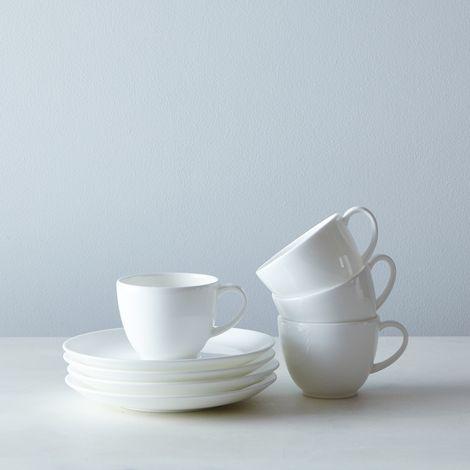 Purio White Espresso Cup & Saucer (Set of 4)