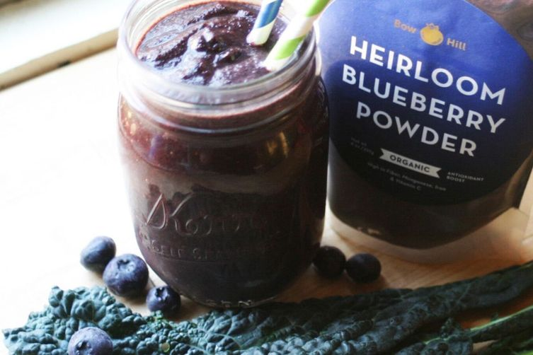 High Fiber Blueberry Kale Smoothie