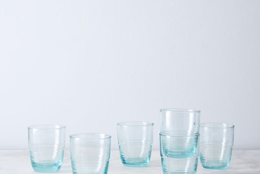 Recycled Glass Ripple Tumblers (Set of 6)