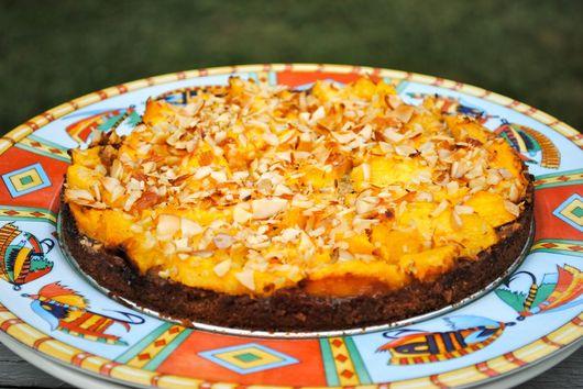 Peach Tart with Almond Crust