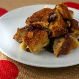 Pecan White Chocolate Bread Pudding